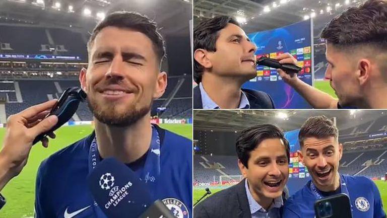 Играч на Челси жертва брадата си и обръсна мустака на журналист в ефир (видео)