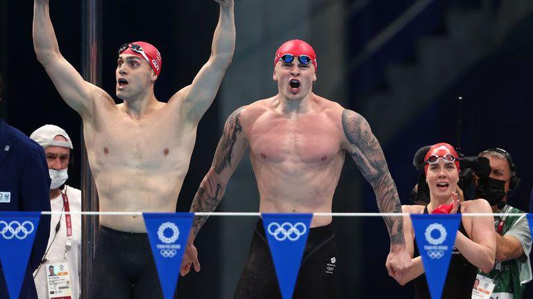 Великобритания спечели със световен рекорд първата олимпийска титла в смесената щафета на 4 по 100 м